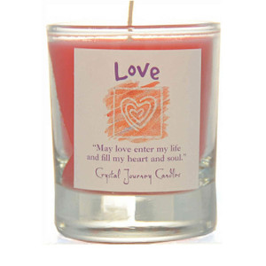 Love Glass Filled Votive Candle