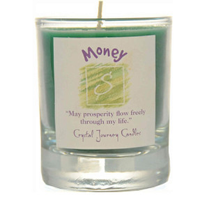 Money Glass Filled Votive Candle
