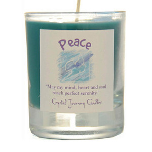 Peace Glass Filled Votive Candle