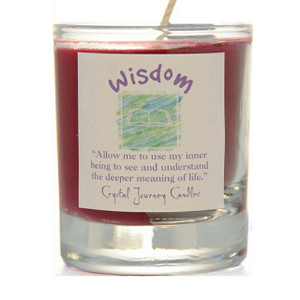 Wisdom Glass Filled Votive Candle
