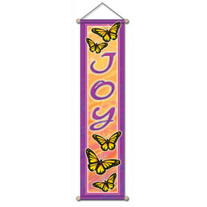 Joy Butterfly Affirmation Banner