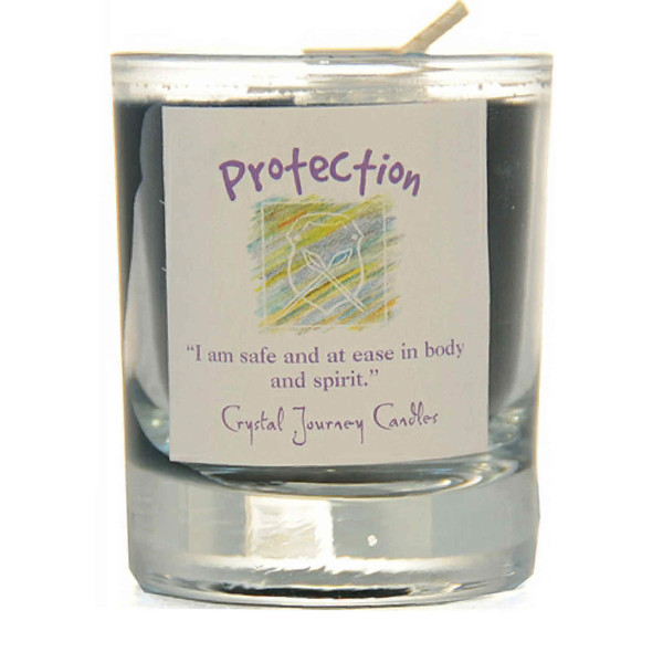 Protection Glass Filled Votive Candle