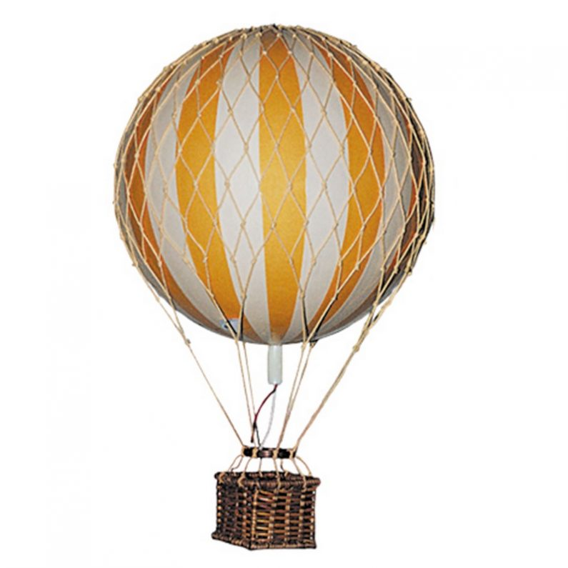 Floating the Skies Hot-Air Balloon Yellow