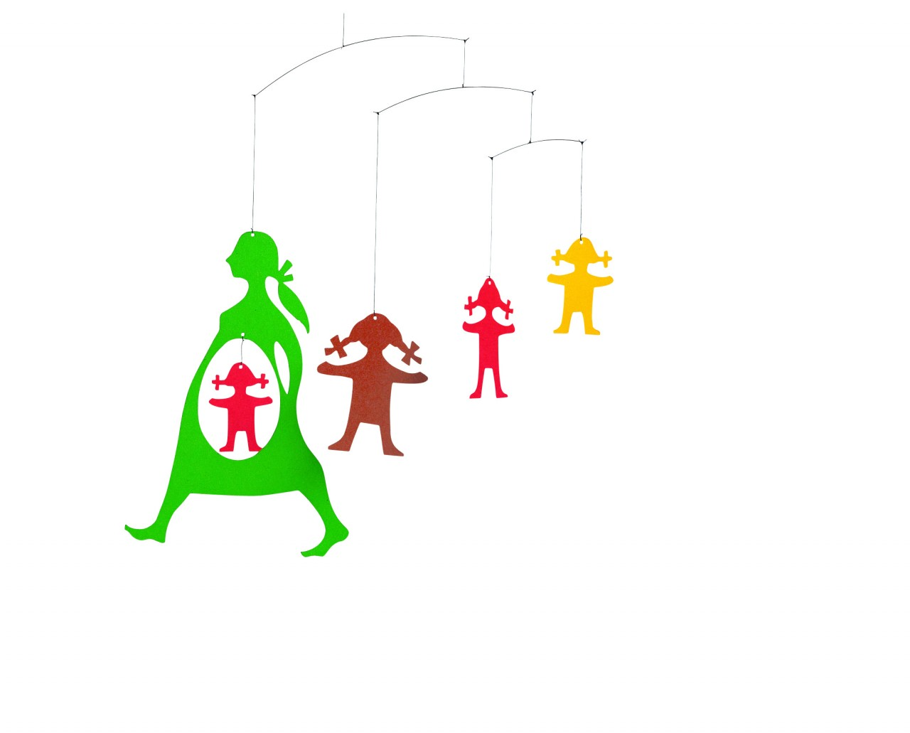 Flensted Expecting Mother Mobile in Green/Red/Yellow