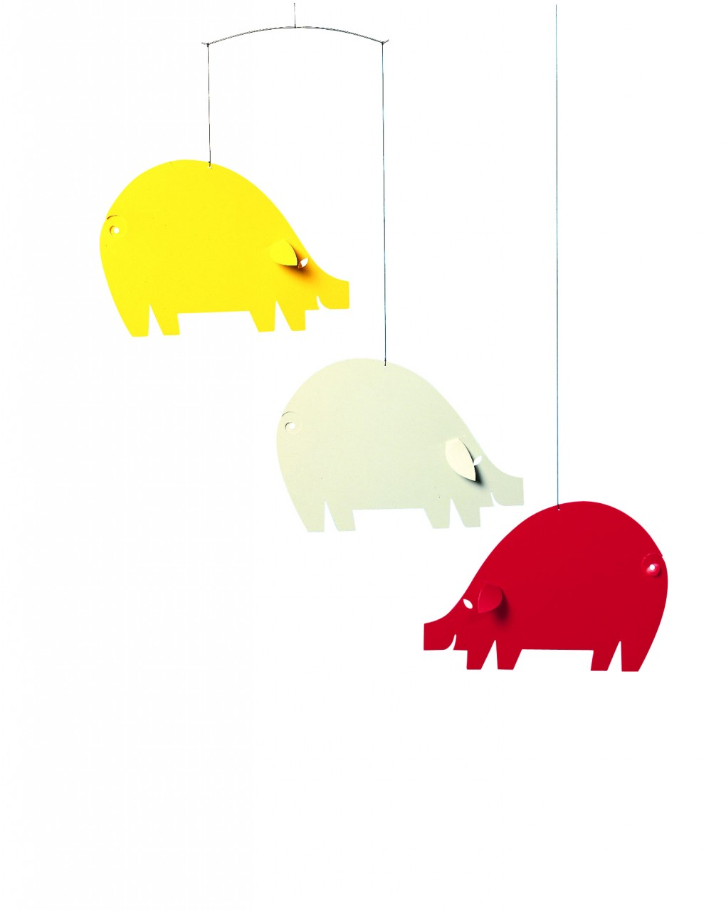 Flensted Pig Mobile in Red and Yellow
