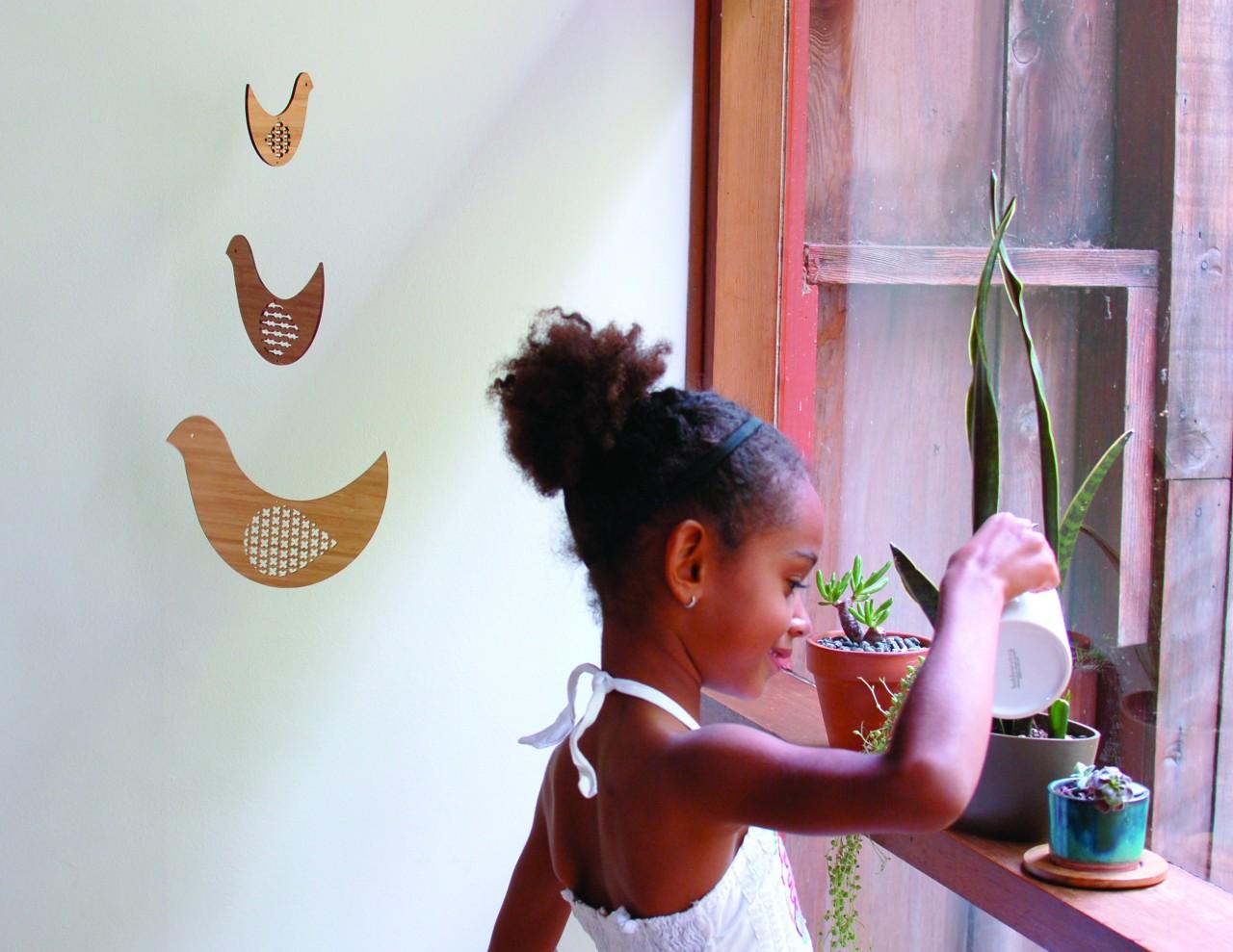 Petit Collage Bird Trio Mobile