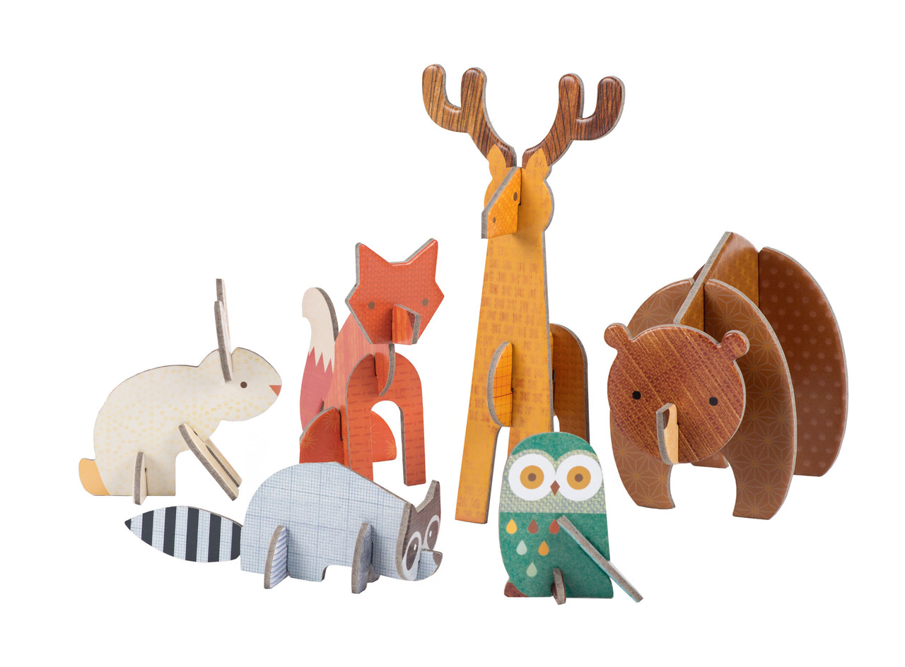 Petit Collage Pop-out and Play Woodland