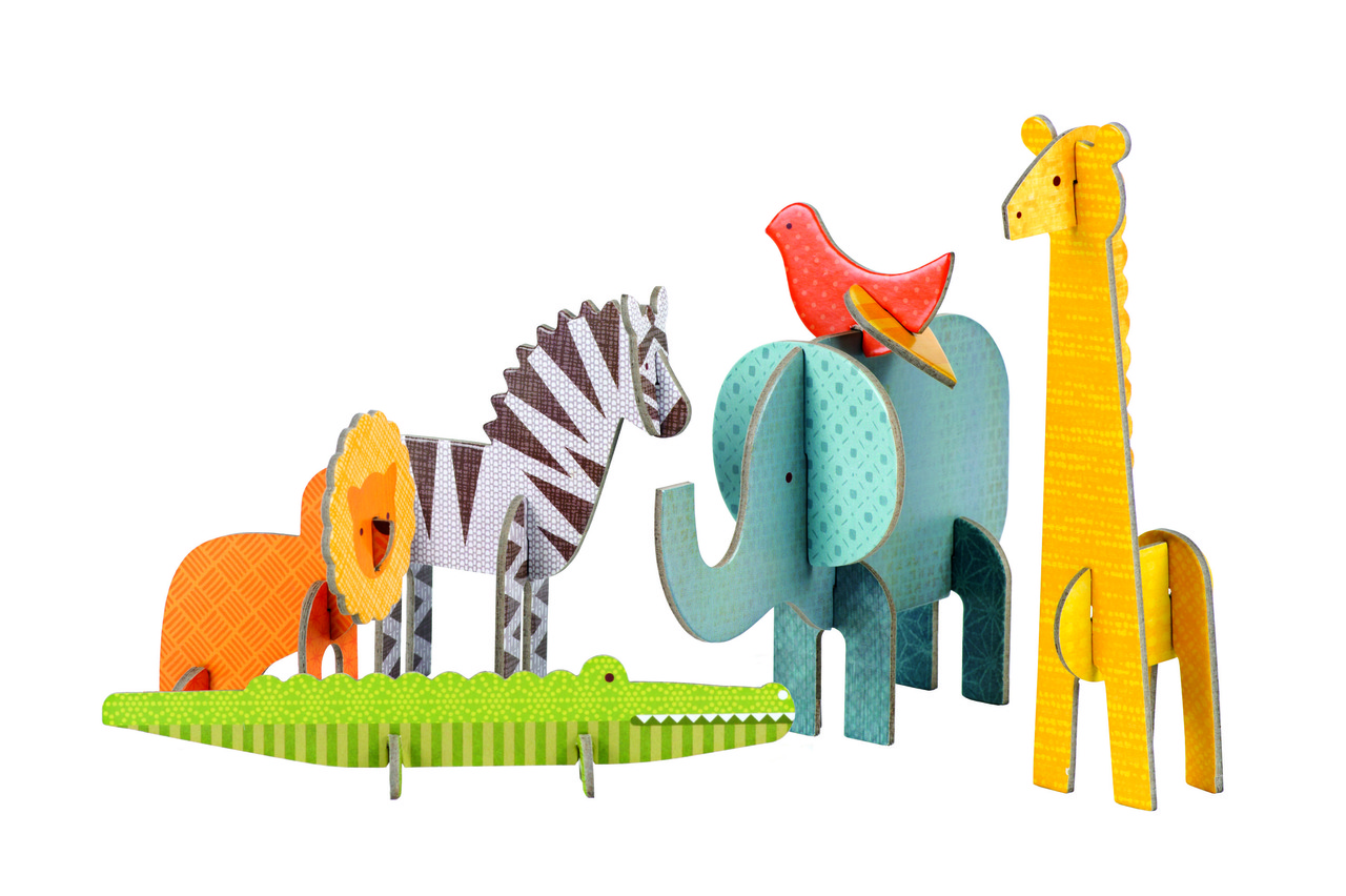 Petit Collage Pop-out and Play Safari