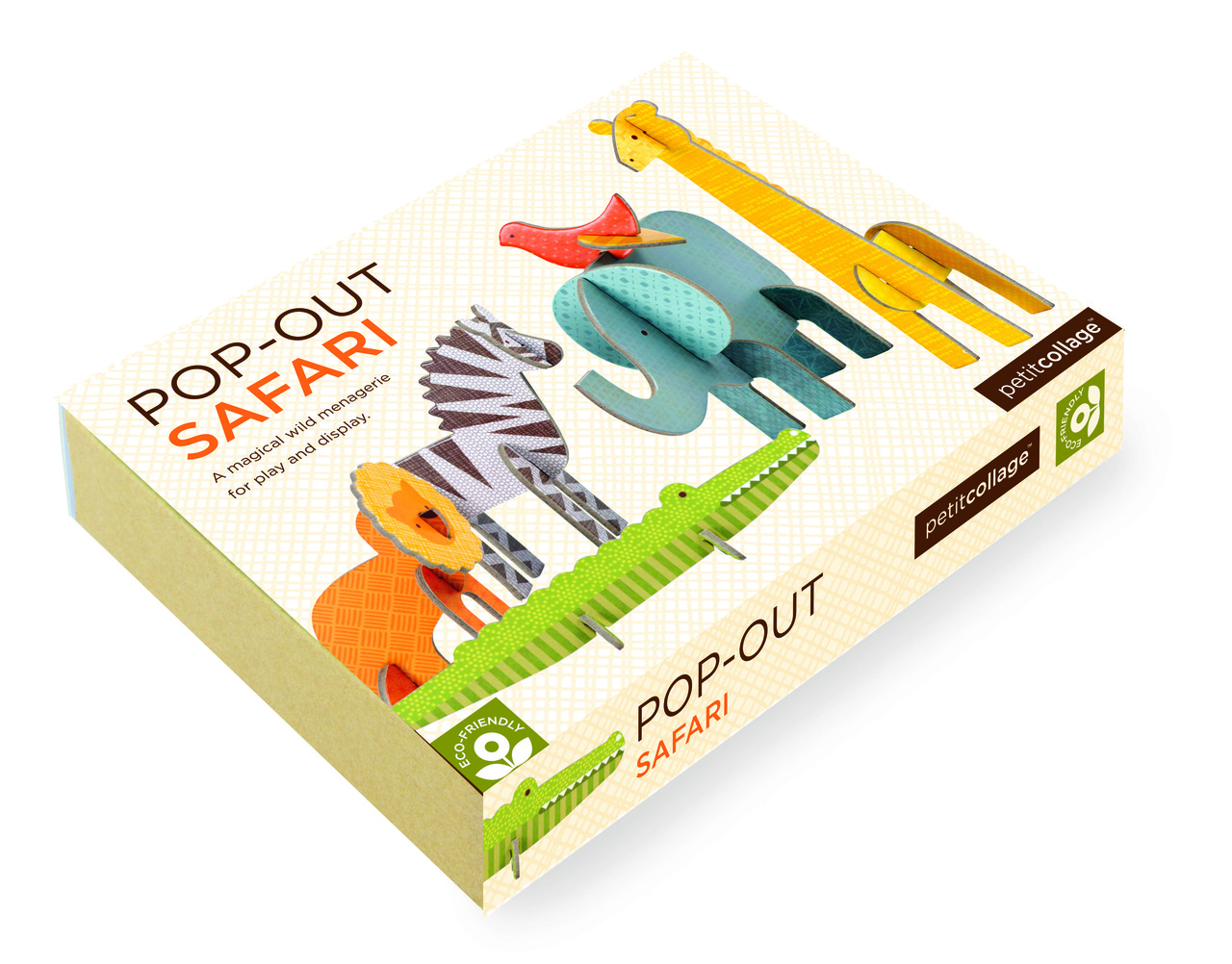 Petit Collage Pop-out and Play Safari Packaging