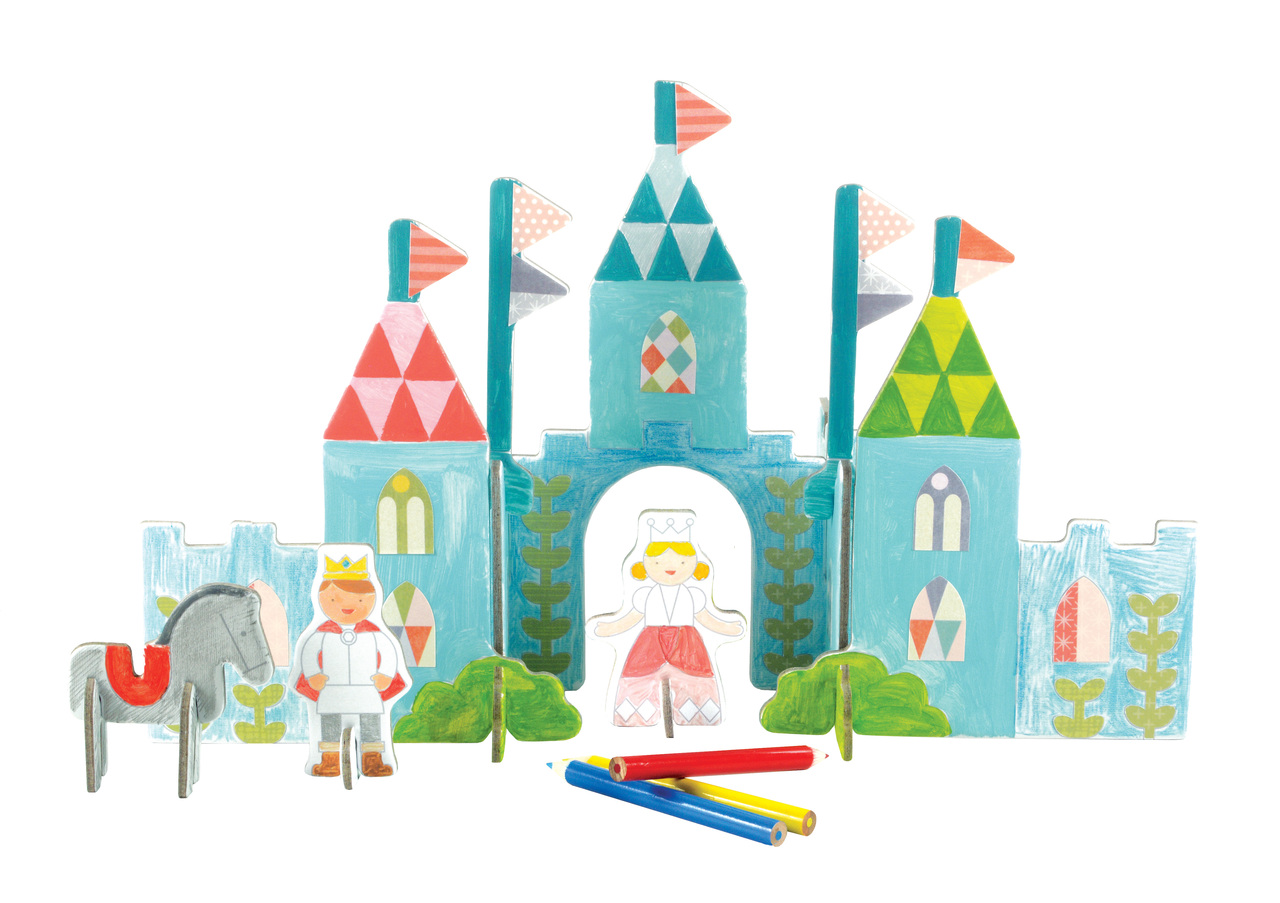 Petit Collage Pop-out and Color Royal Castle