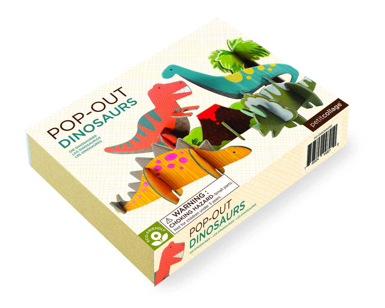 Petit Collage Pop-Out and Play Dinosaurs Box