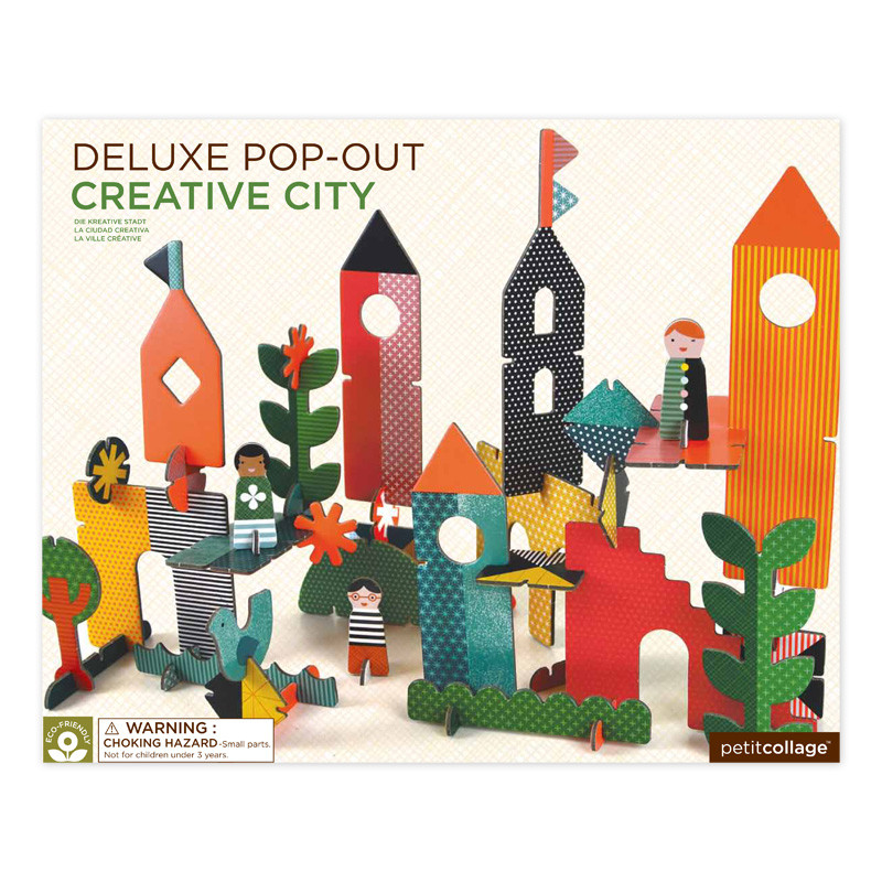 Petit Collage Pop-and Play Deluxe Creative City Packaging