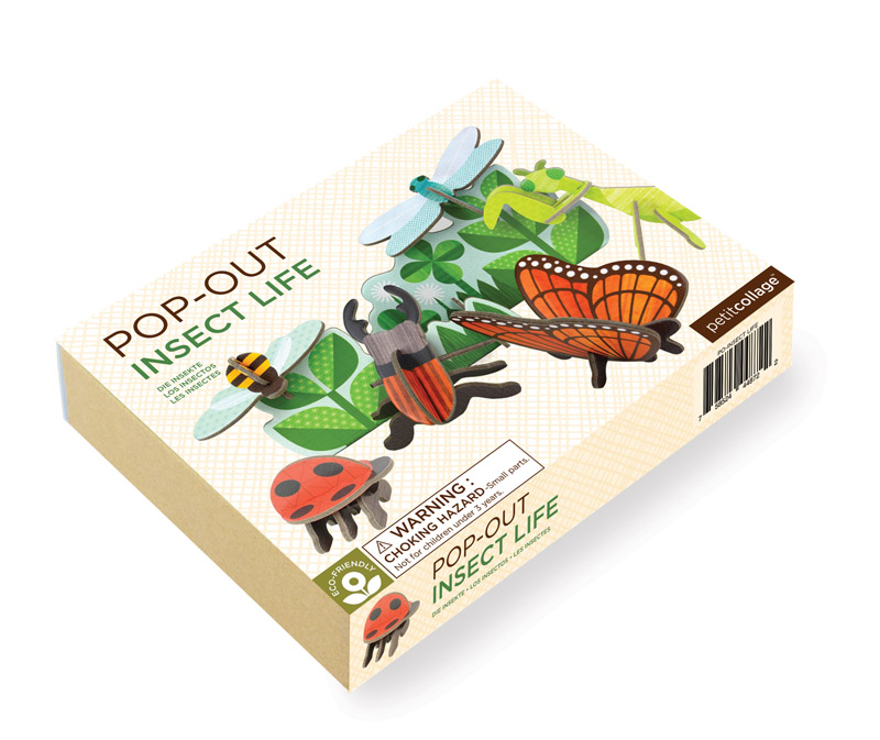 Petit Collage Pop-out and Play Insect Life