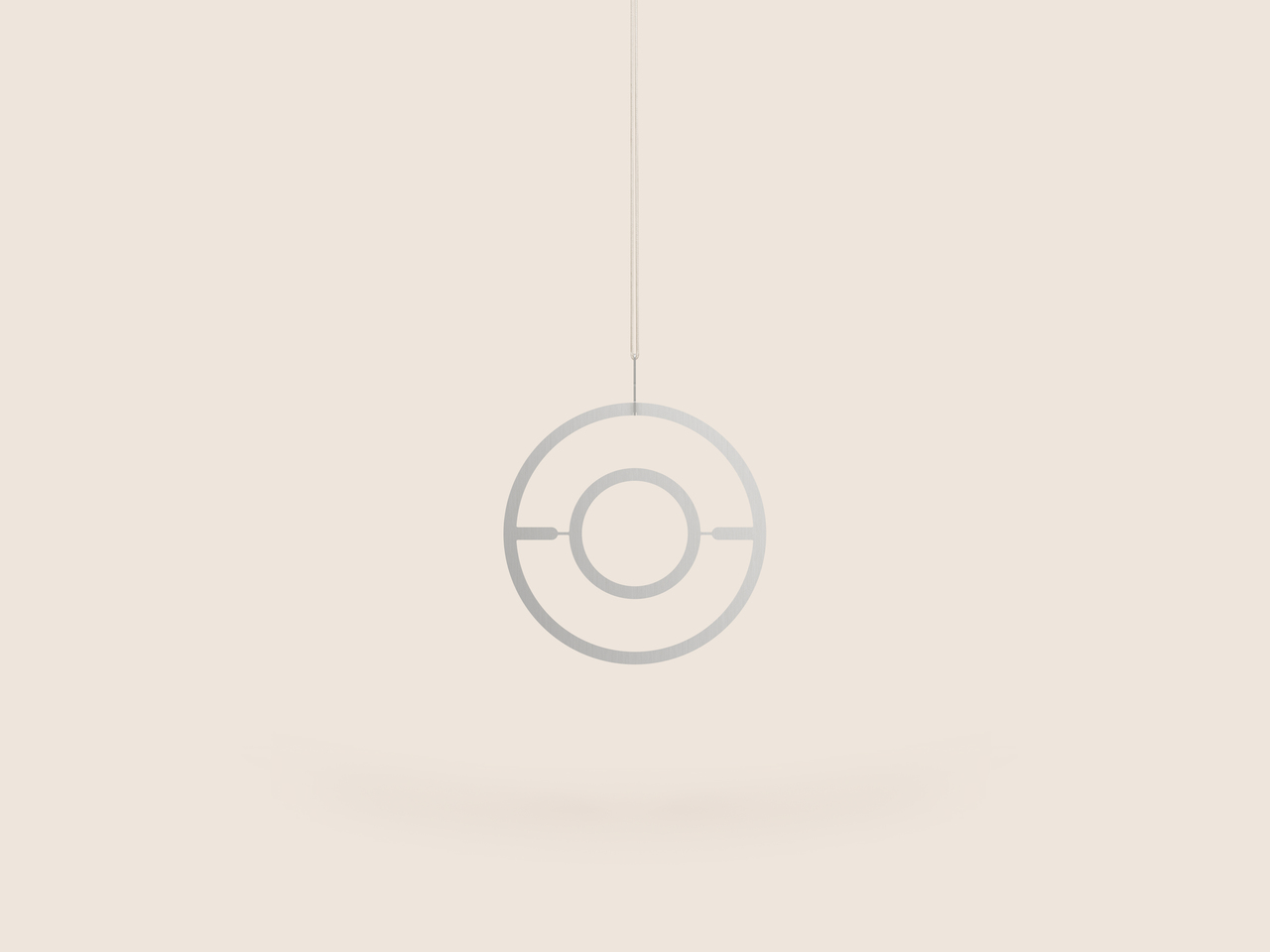Small Good Things Circle Plant Mobile, Silver