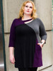 Women's Plus Size Ellipse Tunic in Raisin - Certified Organic Bamboo jersey knit blended