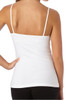 Women's Organic Cotton Shelf-Bra White Camisole