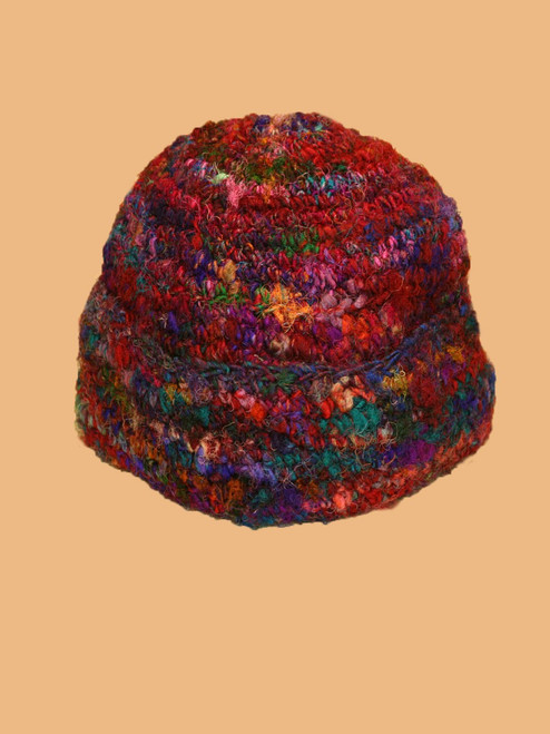 Recycled Silk Big Fold Hat