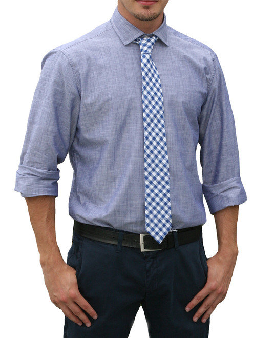 Cole Chambray Covered Placket Long Sleeve Shirt