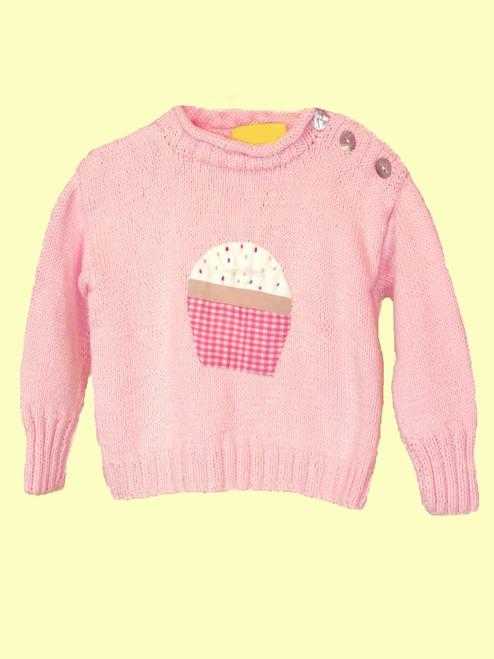 Cupcake Motif Sweater - 100% Cotton Fair Trade