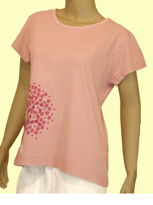 Peace Blossom Skinny Tee - 100% Organic Cotton