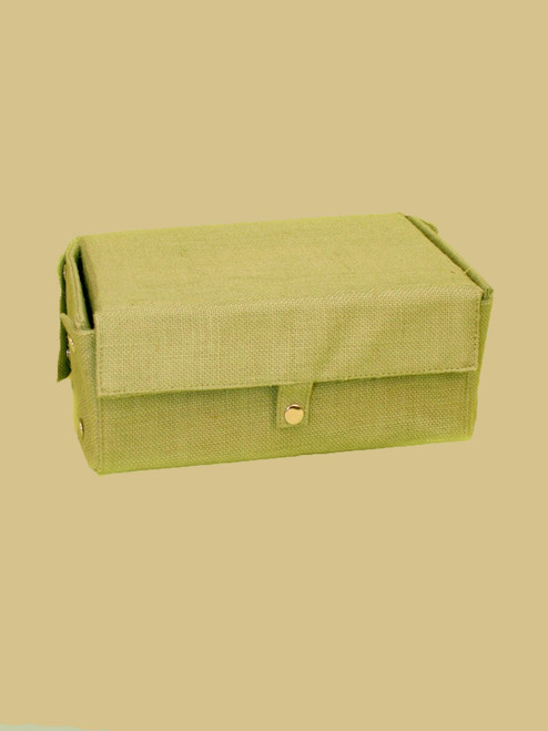 Jute Snap Box in Sage Color