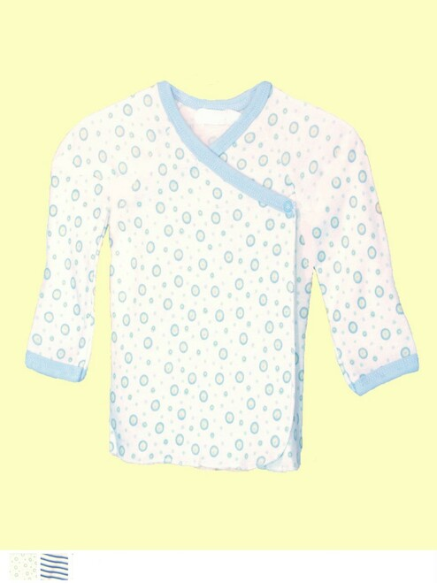 Boy Long Sleeve Side Snap T-shirt - Organic Cotton