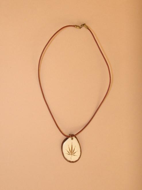 Men's Tagua Slice Necklace