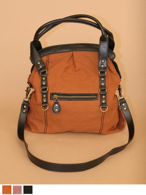 Mercedes Satchel Hemp Canvas Bag