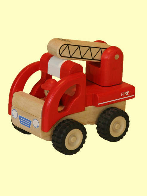 Mini Fire Engine -  Sustainable Rubber Wood