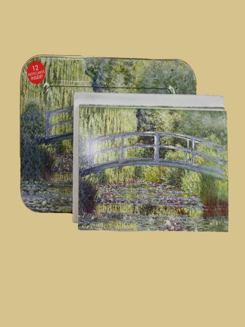 Monet's Water Lilies Tin Box Cards