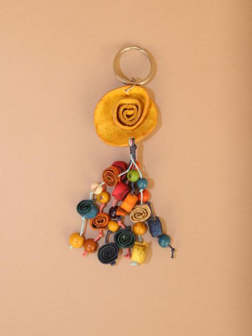 Orange Peel Flower Keychain