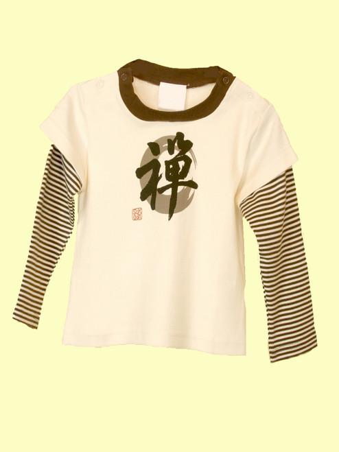 Baby Zen Letter Top . Organic Cotton - Fair Trade