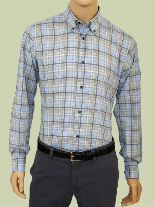 Plaid Long Sleeve Shirt - Organic Cotton