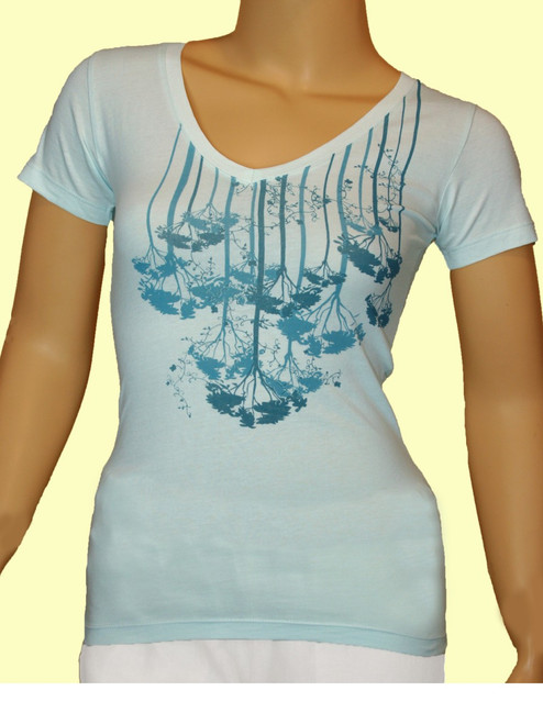 Rain Forest Women's V-Neck  - Organic Cotton