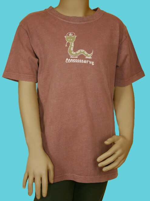 "Snake ""Conssserve"" Tee  . 100% Organic Cotton - Fair Trade"