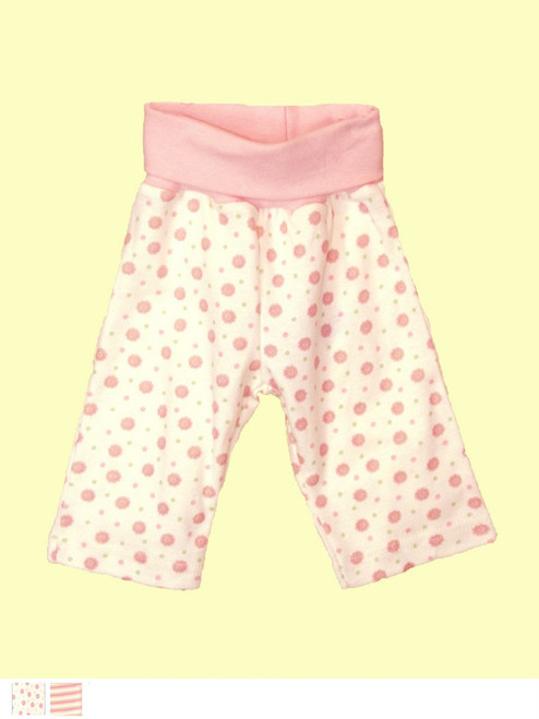Pink Baby Waist Pant . Certified 100% organic cotton - Fair Trade