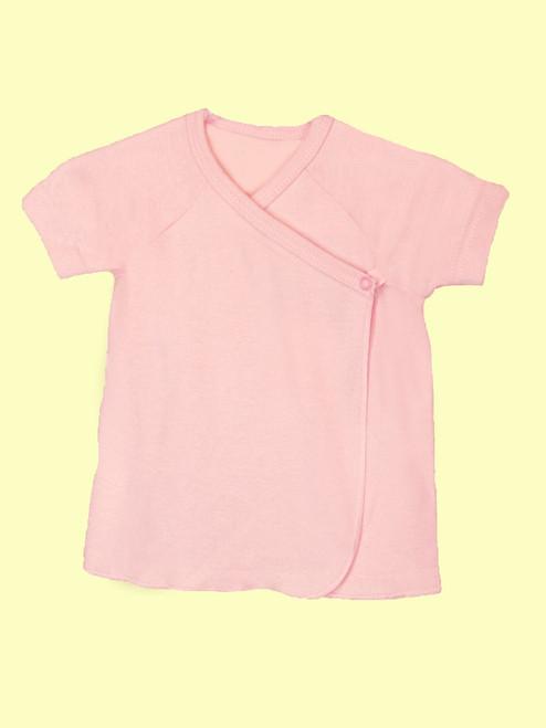 Baby Girl Short Sleeve Undershirt - Organic Cotton