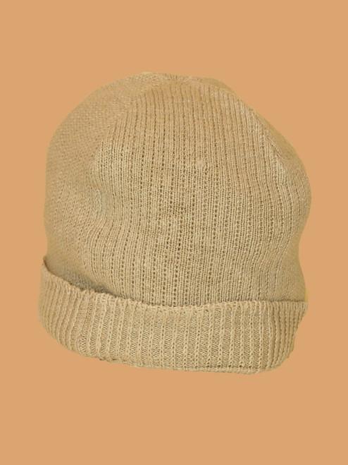 Natural Beanie Hat - Hemp/ Flax