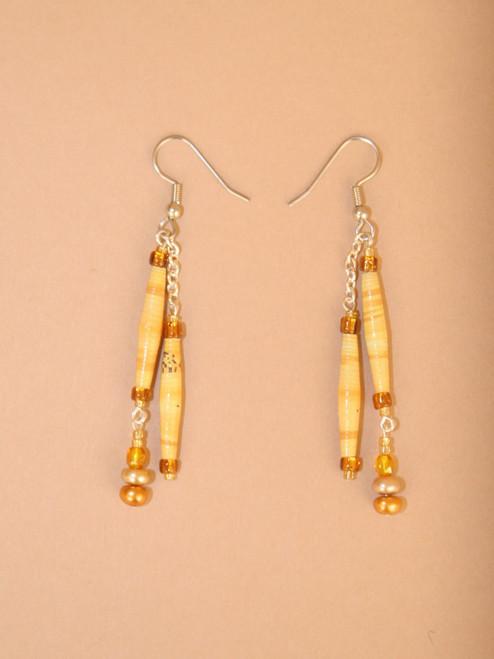 Earth Double Strand Earrings  - Eco Beads