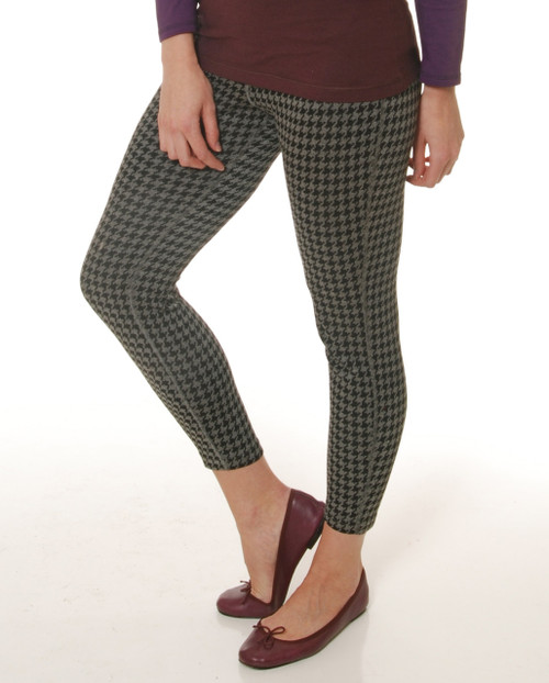 Houndstooth Rejuvenate Legging - Bamboo Knit
