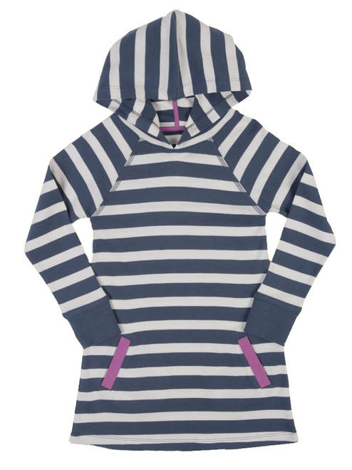 Stripy Hooded Dress - Organic Cotton