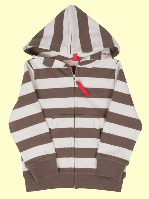 Stripy Zip Hoody - Organic Cotton