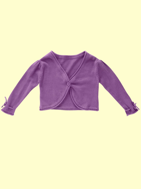 Knitted Grape Cardi . Organic Cotton - Fair Trade