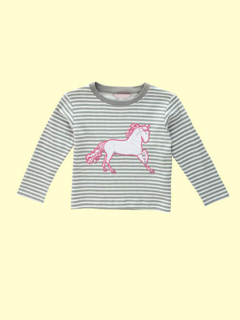 Wild Horse Long Sleeve Tee . Organic Cotton - Fair Trade
