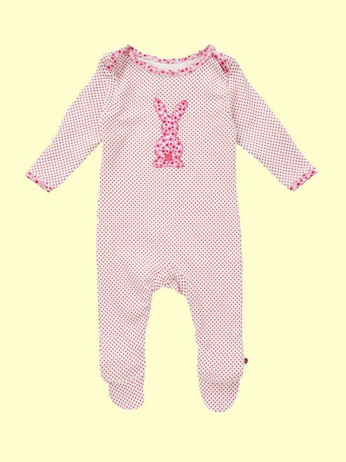 Polka Dot Bunny Playsuit . Organic Cotton - Fair Trade