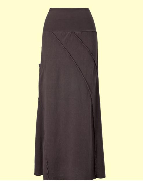 Reversed Villa Skirt . Hemp & Organic Cotton Jersey - Fair Trade