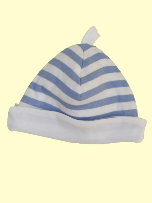 Blue Stripes Hat . Organic Cotton - Fair Trade