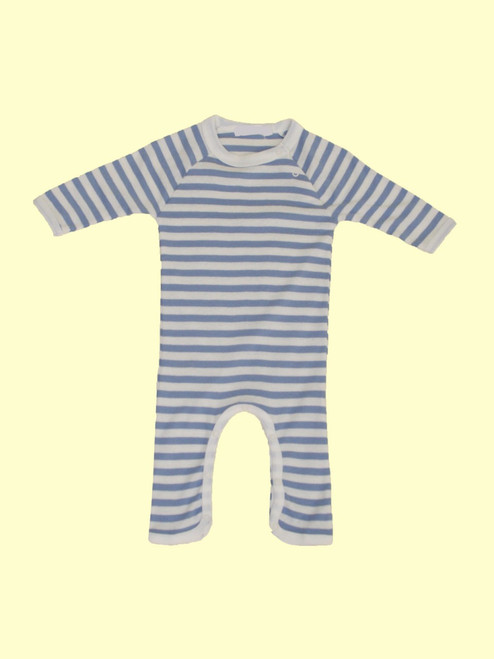 Blue Stripes One Piece Romper - Organic Cotton
