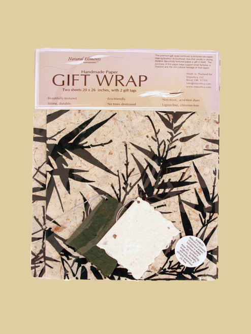 Bamboo Print  Wrapping Paper - Eco-Friendly