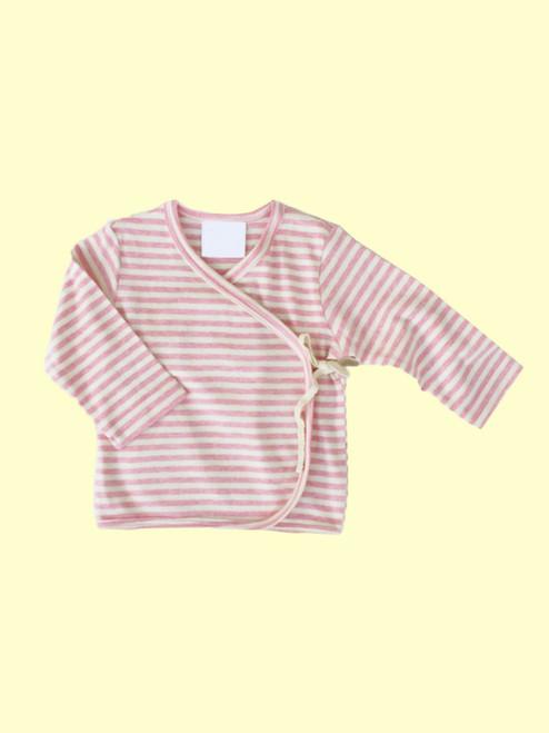 Organic Cotton Striped Pink Baby Kimono - Fair Trade
